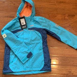 Kids Jack Wolfskin water resistant spring jacket